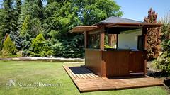 Kiosco de madera a 4 aguas (NavarrOlivier - Estructuras de madera - Pergolas y) Tags: kiosco quiosco chiringuito caseta madera jardiín garden navarroliviercom madrid golf