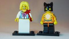 Nervous Pricess & Cat Girl Brick Yourself Custom Lego Figures