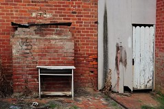 a little inconvenience (holly hop) Tags: bricks chimney decay derelict newwallwednesday redbrick wall wallwednesdays door dunny abandoned myplace 100xthe2017edition 017100x inexplore explored