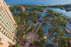 View from the balcony (Tambako the Jaguar) Tags: view garden trees pools ways buildings sea beach sky atlantisresort paradiseisland nassau bahamas hotel vacation luxury nikon d5