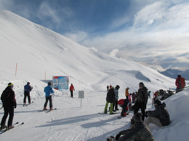 Top of the Home Basin, Treble Cone (8 Aug 2013)