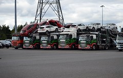 Stobart Line Up at Sunderland Nissan 27/8/15 (CraigPatrick24) Tags: road cars car truck washington nissan cab transport lorry delivery vehicle trailer transporter scania logistics sunderland cartransporter stobart eddiestobart scaniap420 stobartgroup scaniag400 stobartautomotive sunderlandnissan scaniap410
