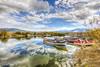Lake reflections (Nejdet Duzen) Tags: trip travel lake reflection nature turkey landscape cloudy türkiye boar sandal manzara göl yansıma turkei seyahat doğa fishinf balıkçılık bulutlu bafagölü bafalake