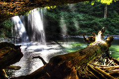 Underwaterfall (markofphotography) Tags: oregon waterfall ledge basalt marioncounty volcanicfeature upperbuttecreekfalls
