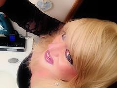 IMG_2216 (DominoCD) Tags: hot cute sexy eyes lace slut makeup babe lgbt blonde lipstick crossdresser crossdress eyeliner selfie
