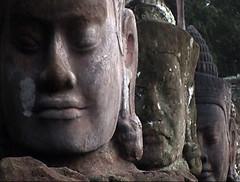 Buddhas of Compassion, Angkor Wat, Cambodia