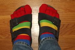 Hey, I just like stripped socks. And Birkenstocks.