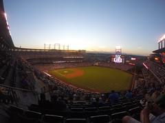 Sunset at Coors (Trey DeVries) Tags: sunset mountains field colorado baseball stadium gopro