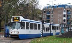 Amsterdam Centrum  Weteringschans Tram 24 wn 841 (GeRiviera) Tags: netherlands dutch amsterdam nederland tram publictransport streetcar centrum noordholland tramvaj weteringschans tranvia openbaarvervoer tramvia lijn24 trasportopubblico