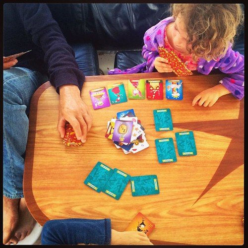 314/365 • the 5yo owns the #sleepingqueens card game on this boat • #314_2015 #cards #play #saturdaymorning #5yo #family #catamaran #liveaboard
