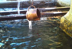 Frozen water, French Alps, France  mircosoft (mircosoft) Tags: mountain water fountain frozen pure