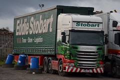 Stobart H124 PX61 CJU Harriet Louise at Penrith 14/11/15 (CraigPatrick24) Tags: road truck cab transport lorry delivery vehicle trailer scania logistics penrith stobart eddiestobart curtainsider h124 harrietlouise stobartgroup scaniar440 px61cju stobartcurtainsider
