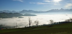 Blick vom Lood 895 m .M. (auwaegler) Tags: schweiz thun berneroberland landsape nebelmeer