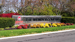 The Wendy's Company sign (Nicholas Eckhart) Tags: columbus ohio dublin usa retail america us fastfood headquarters oh wendys stores 2015 corporateheadquarters thewendyscompany