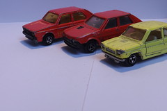 Majorette Compact Cars (Majo Tom) Tags: cars volkswagen fiat majorette diecast