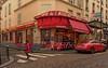 Montmartre / Rue Lepic : Café des Deux Moulins  ( Amélie Poulain .... ) (Pantchoa) Tags: paris montmartre rue lepic cafédesdeuxmoulins rouge pavés streetshot améliepoulain d7100 tokina 1228mmf4 café ville red pantchoa françoisdenodrest