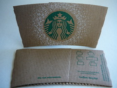 Starbucks snow sleeve by Majiscup - The Papercup & Sleeve, on Flickr