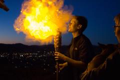 fire breathing (beverlykaytw) Tags: fire breathing cornstarch