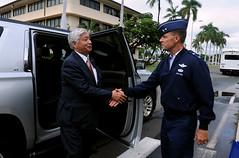 Japan's Minister of Defense Visits Hickam (#PACOM) Tags: usa japan hawaii us defense joint bilateral interoperability mmca jointbasepearlharborhickam uspacificcommand pacom