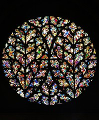 The Bishop's Eye window. (tom_2014) Tags: uk greatbritain travel england colour art english church window glass architecture europe cathedral britain eu stainedglass medieval lincolnshire explore lincoln stainedglasswindow religiousart medievalart lincolncathedral lincs religiousarchitecture bishopseye