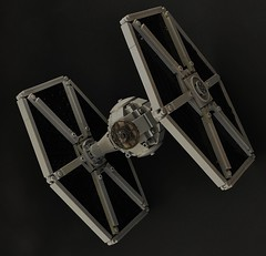 Sienar Fleet Systems: TIE Fighter: V2 (1) (Inthert) Tags: tie figher lego ship empire pilot moc star wars solar panel twin ion engine sienar fleet systems cockpit imperial version 2 rogue one