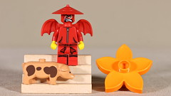 Little Asian Devil (Busted.Knuckles) Tags: home toys lego minifigures devil pig flower canonsl1