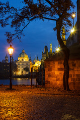 Pod Karlovým mostem (Honzinus) Tags: praha praga prague cz czech čechy česko karlův most podzim autumn večer evening