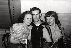 John Mays, Evelyn Perry and Friend (smays) Tags: mays perry navy blackandwhite