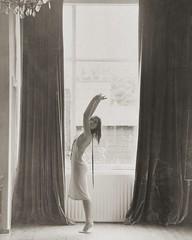 Dancin' (soleá) Tags: window lauma soleá carmengonzalez bw yoga fineartphotography dancer dance