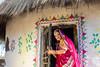 (durgeshnandini) Tags: shilpgram udaipur india model hut peeping smiling