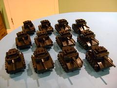 Army of Lego mini tanks (tekmoc17) Tags: lego tank black mini store pab wal army
