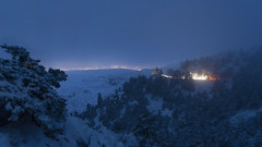 snowy night (HarisMichail) Tags: snow mountain parnitha night nikon d5200 athens greece lights