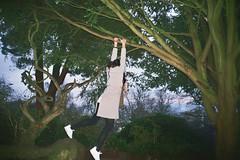 _19_00981 (Lee Sydney) Tags: 35mmfilm 35mmphotography filmisnotdead filmphotography filmisnotdeadinmalaysia 35mmfilmphotography agfavista200 olympusmjuii nannamatilde nanna matilde couchsurfers couchsurfing outgoing outdoor activities cabottower brandonhill treeclimbing monkey human what hanging onto branches girl climber danish girls
