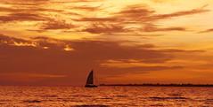 Sunset Fort Myers Beach | Florida (sandrobrunner) Tags: florida sailing peaceful atmosphere sun myers usa glowing burning sky colorful segler dusk glowingskies burningskies burningsky sunset fortmyers sunlight burningclouds