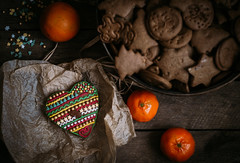 Taste of Christmas (jakub.sulima) Tags: nikon d3200 nikkor 50mm 18 christmas winter warm rustic coutryside gingerbread cookies spicy wood wooden amateur photography from above top view studio light indoor inside cold december january homemade home colourful colours orange red green brown white yellow gold dark golden old vintage food stilllife flickr table holiday craft manufacture