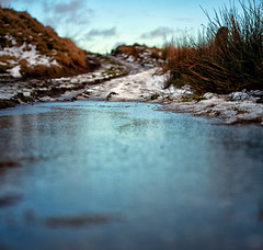 The Icy Path (Missy Jussy) Tags: frost frozen snow path hills field piethornevalley depthoffield dof ice cold footpath grass sky clouds january 2017 canon canon50mm canon5dmarkll