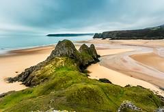 Three Cliffs Bay (rossosullivan) Tags: wales winter coast sea cliffs swansea three bay cymru welshflickrcymru water cloudsstormssunsetssunrises