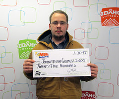 Jonnathan Grimes - $2,500 Mega Millions (Idaho Lottery) Tags: idaholottery wooh jonnathangrimes middletonidaho megamillions jacksons drawgames
