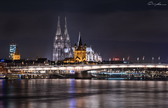 Cologne Cathedral at night (ColognePhotograph) Tags: reflections city cityscape lights night longexposure cologne cathedral dom köln nacht river