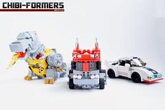 11. Chibi-formers Cover 2 Alt Mode (Sam.C MOCs (S2 Studios)) Tags: lego transformers optimus prime chibi moc mech robot anime scifi car truck