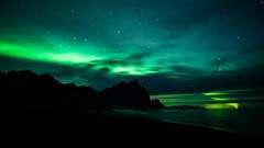 Green arm (modesrodriguez) Tags: 2016 iceland islandia landscape paisaje travel viaje stokksnes auroraborealis aurora northernlights greenlights sky clouds longexposure beauty