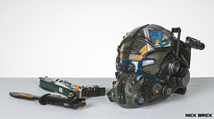 Jack Cooper's loadout (Nick Brick) Tags: lego titanfall 2 smart pistol data knife gun weapon sere kit pilot helmet jack cooper bt7274 titan