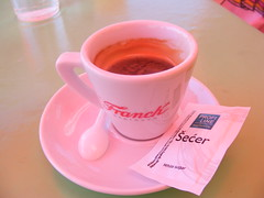 There is always coffee:~) (sean and nina) Tags: coffee cup saucer spoon sugar packet espresso expresso caffe kava table cafe restaurant topusko croatia hrvatska eu europe european drink refreshment