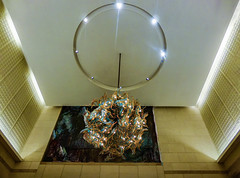 The Alien Chandelier (Steve Taylor (Photography)) Tags: lampshade art digital architecture light lamp ceiling weird odd strange eerie chandelier sia