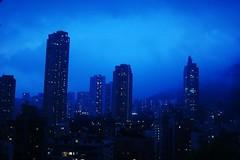 Gotham City (atriray) Tags: atmospheric noir citylights blue fog hongkong twilightzone evening gothamcity