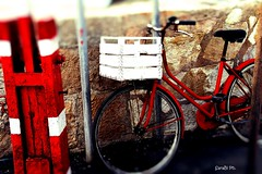 Red_Cycle (sara.b0485) Tags: red bicycle sicily favignana honeymoon sunset memories summer canon love lovely