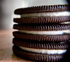 Space In Between...Macro Mondays (carbumba) Tags: macromondays food cookie closeup macro chocolate cream buttercream