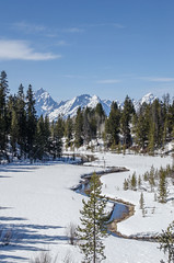 Follow the Glistening Stream (TNWA Photography (Debbie Tubridy)) Tags: grandtetonnationalpark wyoming landscapes latewinter snow wilderness trees mountains sky nature habitat environment unspoiled needtopreserve wild natural cleanair debbietubridy tnwaphotography outdoors