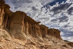 rocas coloradas Ruta 1 (Mauro Esains) Tags: ruta 1 chubut rocas coloradas piedras nubes cielo paisaje arcilla tarde verano rojo desierto naturaleza cerros columnas formación rocosa grietas silencio