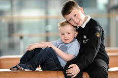 Harri Reed and his brother James, who saved his life